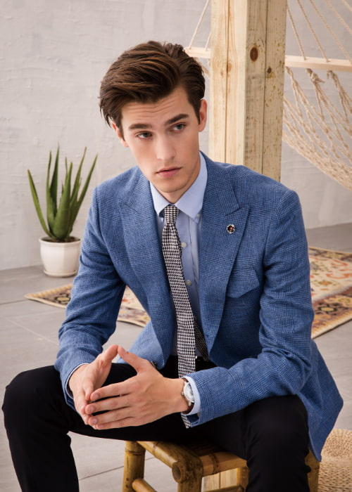 blazer vs suit jacket collars and cuffs